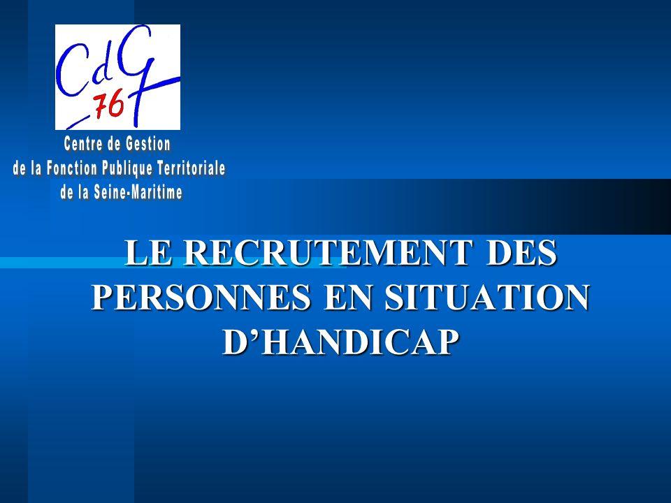 LE RECRUTEMENT DES PERSONNES EN SITUATION DHANDICAP