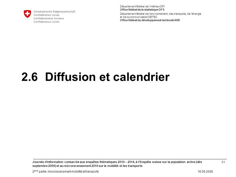 31 Journée dinformation consacrée aux enquêtes thématiques 2010 – 2014, à lEnquête suisse sur la population active (dès septembre 2009) et au microrec