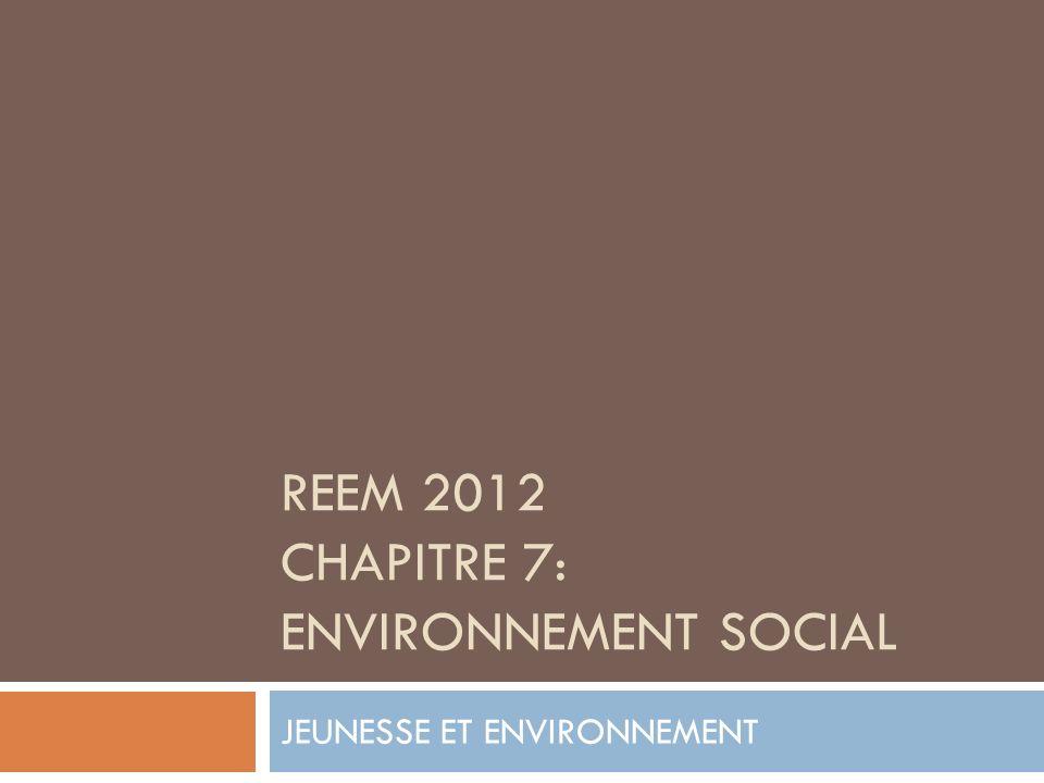 REEM 2012 CHAPITRE 7: ENVIRONNEMENT SOCIAL JEUNESSE ET ENVIRONNEMENT