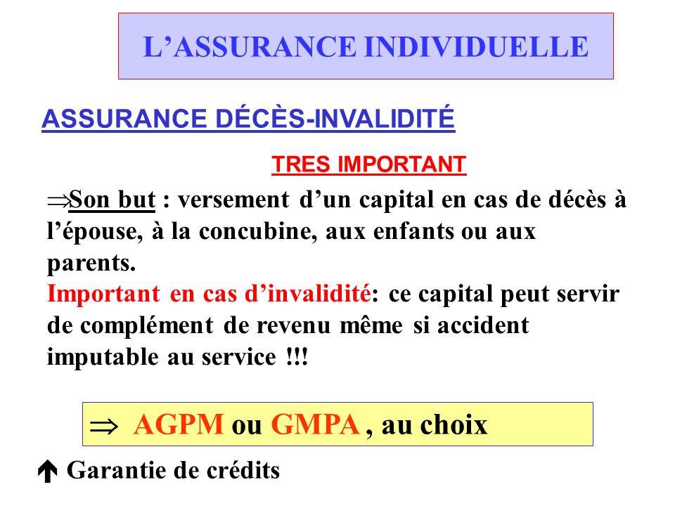 LASSURANCE INDIVIDUELLE ASSURANCE VIE Constitution « défiscalisée » dun capital ou dune rente de retraite.