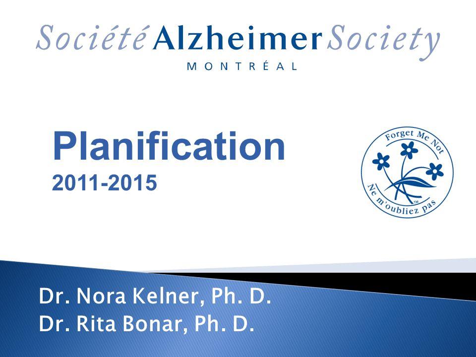 Planification 2011-2015 Dr. Nora Kelner, Ph. D. Dr. Rita Bonar, Ph. D.