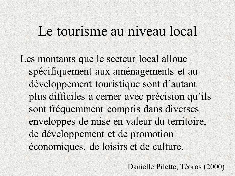 Le tourisme est de juridiction provinciale ou fédérale .