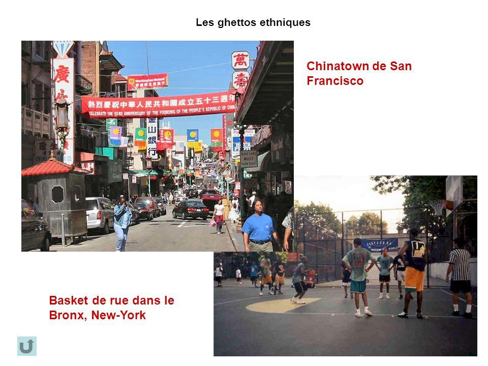 Les ghettos ethniques Chinatown de San Francisco Basket de rue dans le Bronx, New-York