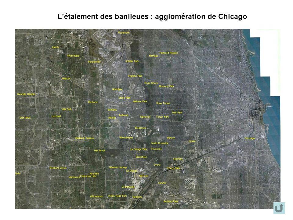 Létalement des banlieues : agglomération de Chicago
