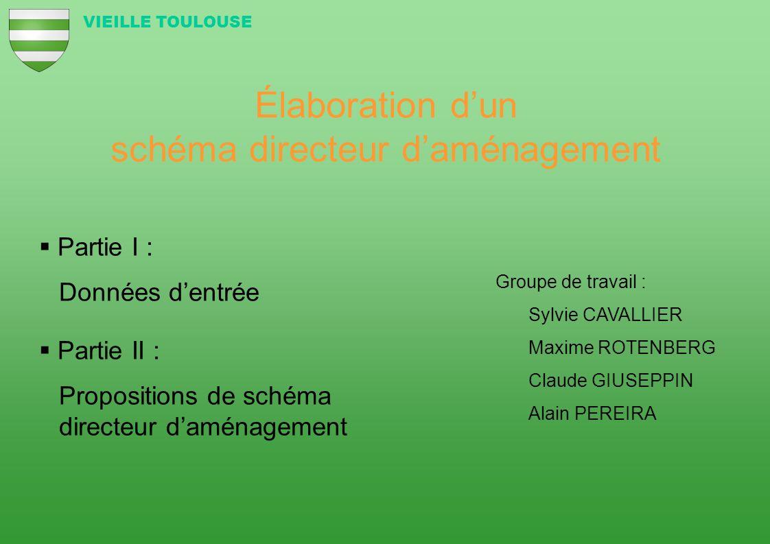 Élaboration dun schéma directeur daménagement Groupe de travail : Sylvie CAVALLIER Maxime ROTENBERG Claude GIUSEPPIN Alain PEREIRA Partie I : Données