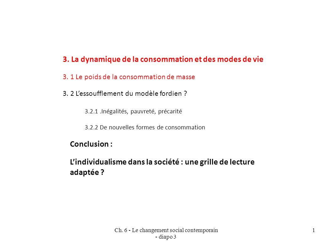 Ch.6 - Le changement social contemporain - diapo 3 1 3.
