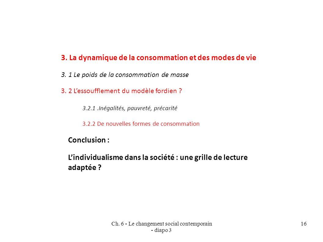 Ch.6 - Le changement social contemporain - diapo 3 16 3.