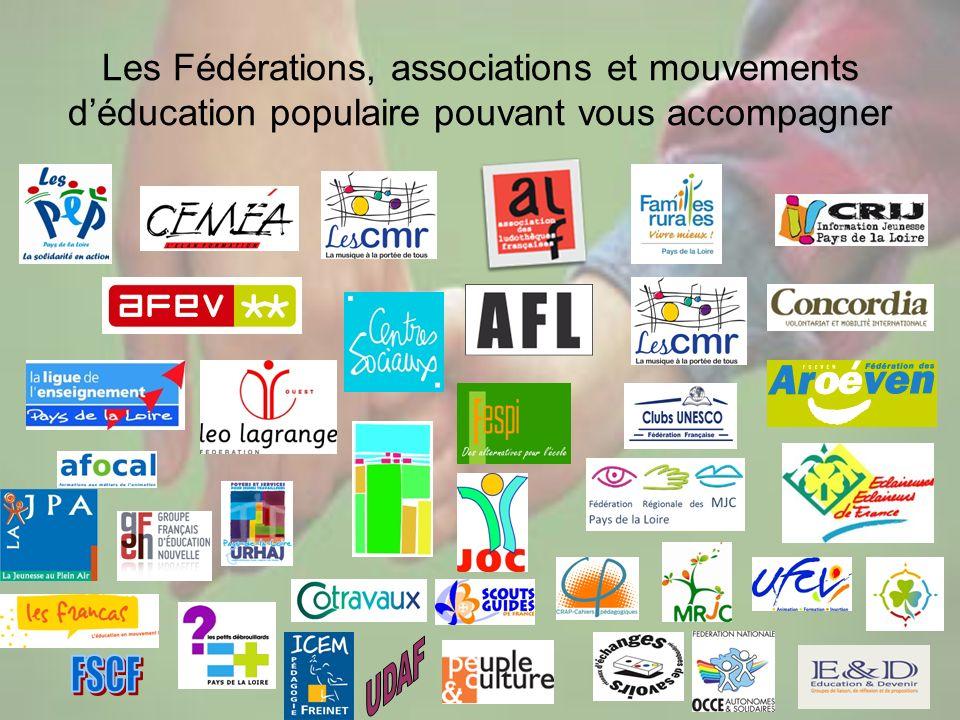 24 Les Fédérations, associations et mouvements déducation populaire pouvant vous accompagner