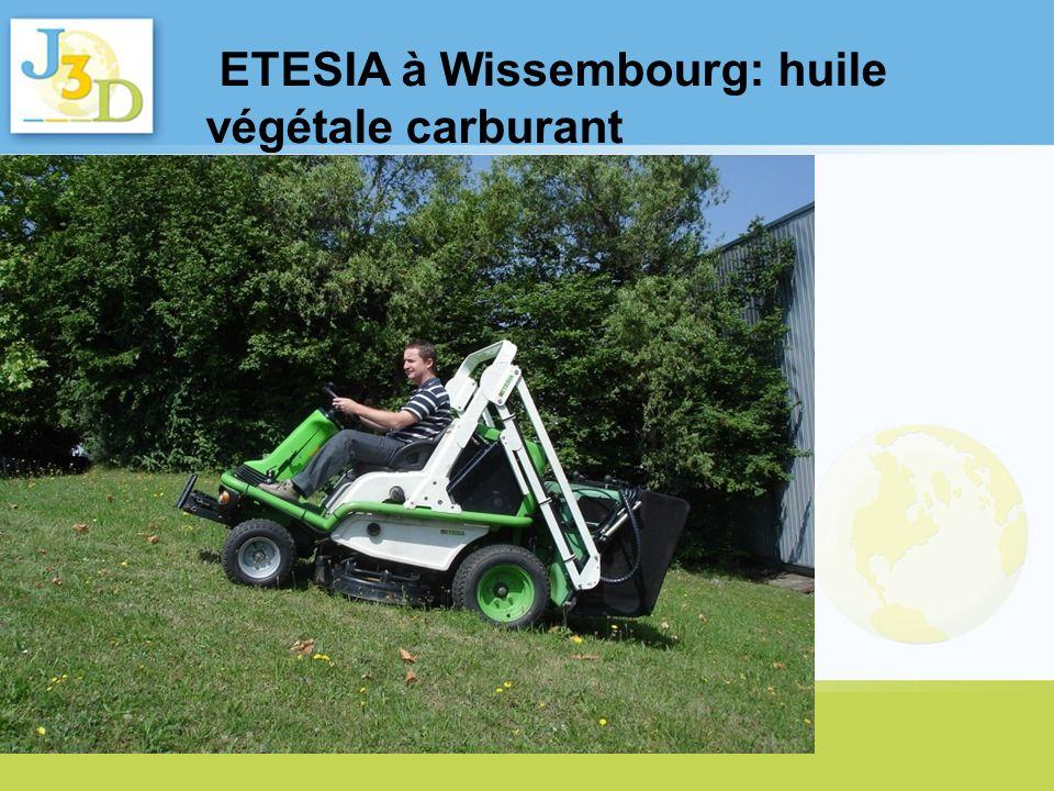 ETESIA à Wissembourg: huile végétale carburant