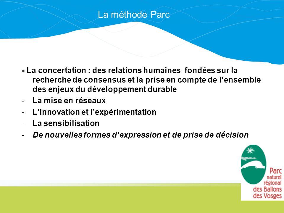 - La concertation : des relations humaines fondées sur la recherche de consensus et la prise en compte de lensemble des enjeux du développement durabl
