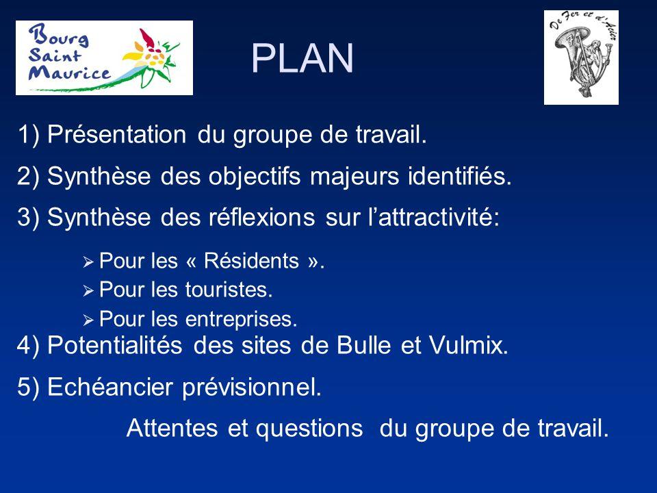 PLAN 1) Présentation du groupe de travail. 2) Synthèse des objectifs majeurs identifiés.