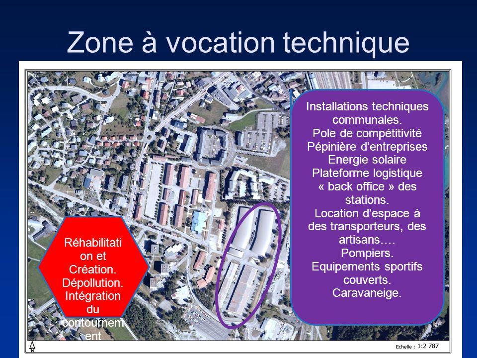 Zone à vocation technique Installations techniques communales. Pole de compétitivité Pépinière dentreprises Energie solaire Plateforme logistique « ba