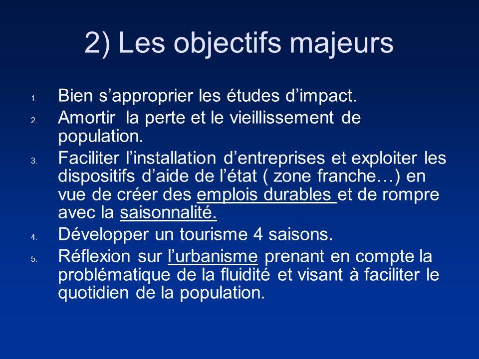 2) Les objectifs majeurs 1. Bien sapproprier les études dimpact.