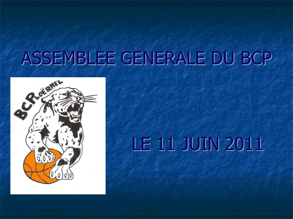 ASSEMBLEE GENERALE DU BCP LE 11 JUIN 2011
