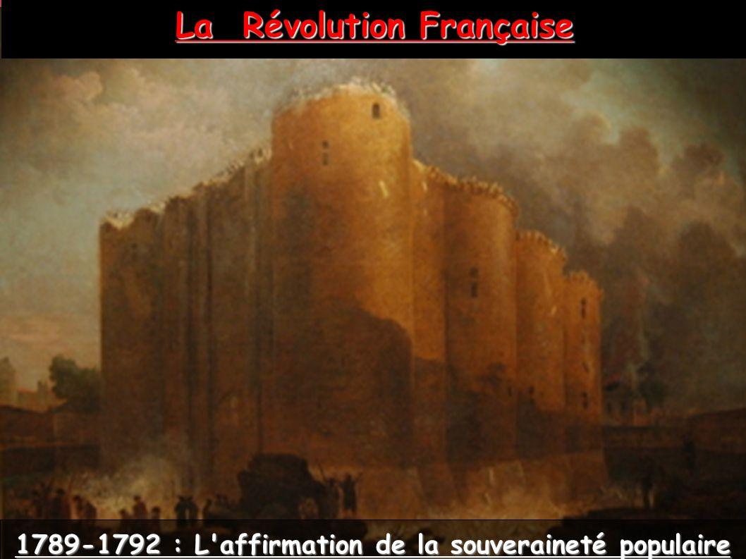 La Révolution Française 1789-1792 : L'affirmation de la souveraineté populaire