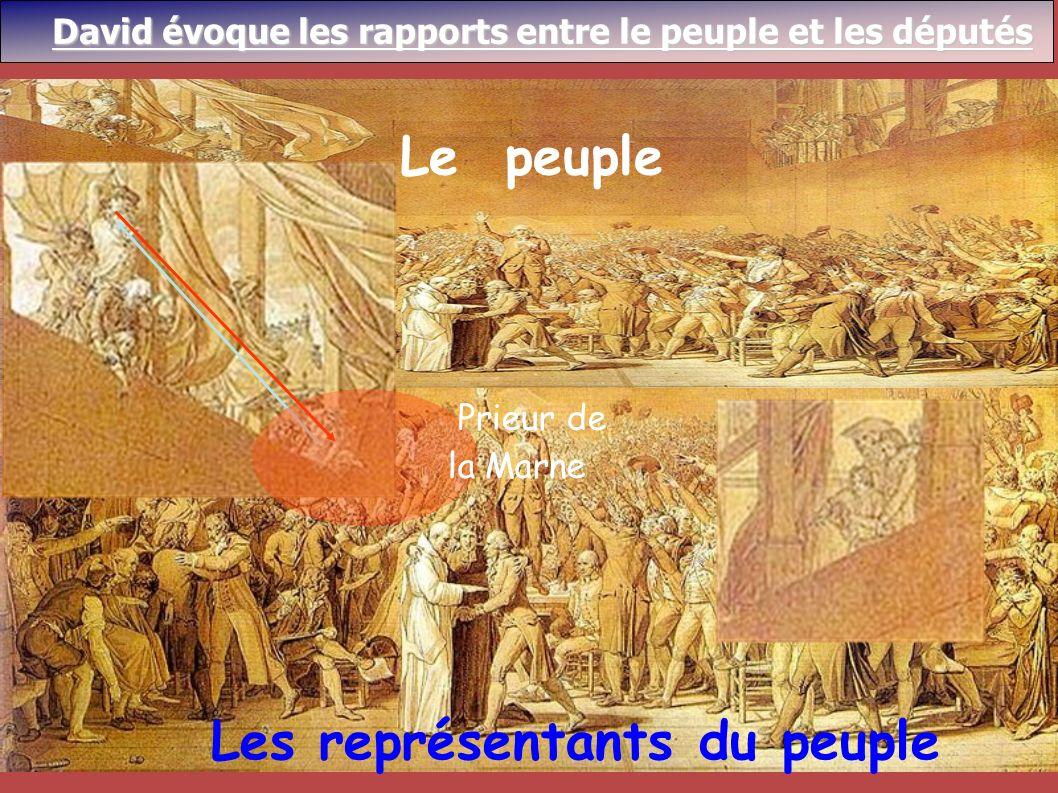 Le peuple Les représentants du peuple Prieur de la Marne David évoque les rapports entre le peuple et les députés David évoque les rapports entre le p