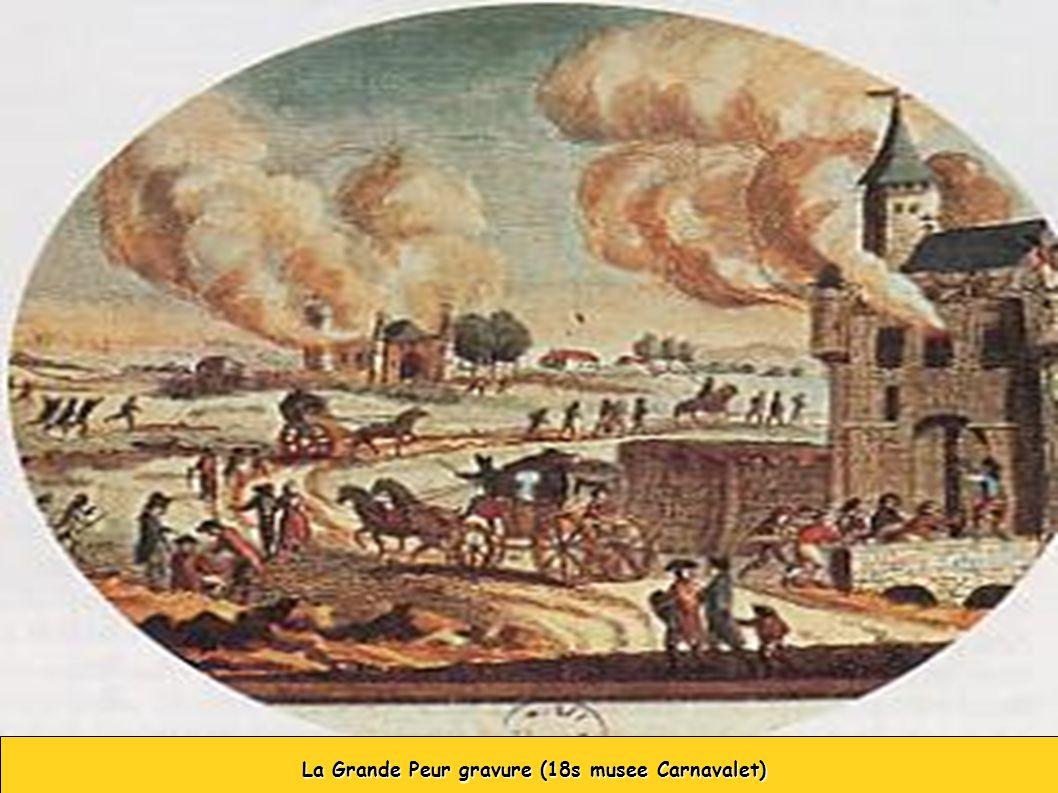 La Grande Peur gravure (18s musee Carnavalet) La Grande Peur gravure (18s musee Carnavalet)
