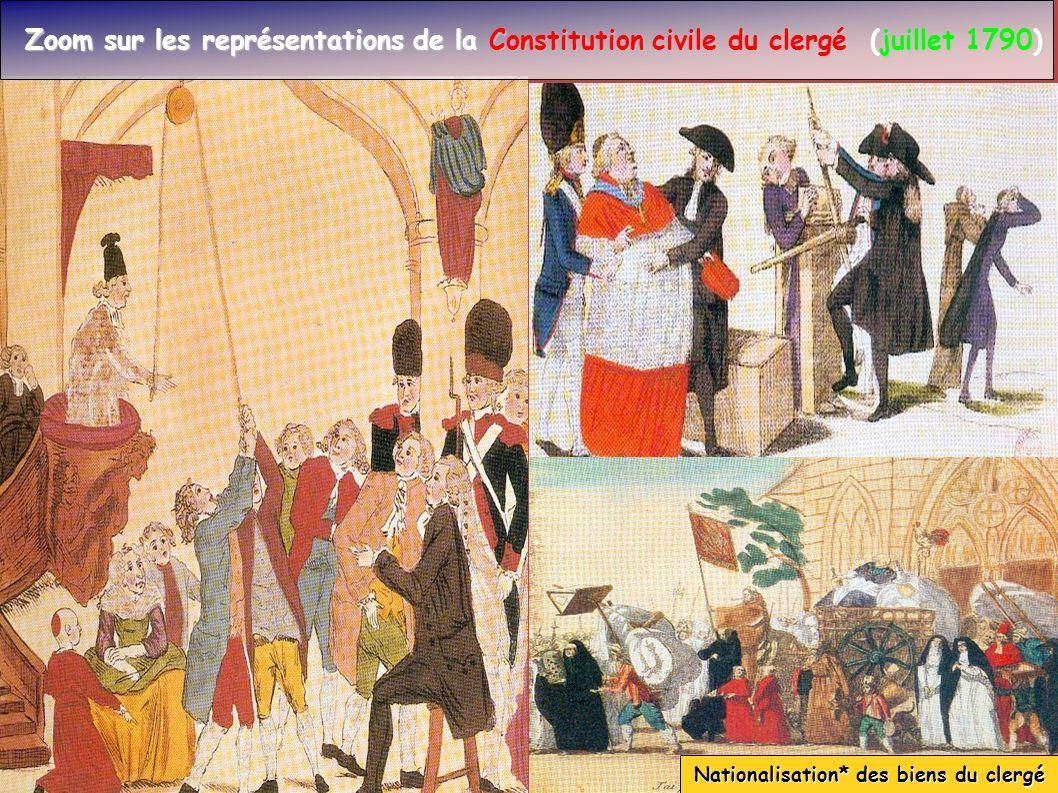 Zoom sur les représentations de la Constitution civile du clergé (juillet 1790) Zoom sur les représentations de la Constitution civile du clergé (juil