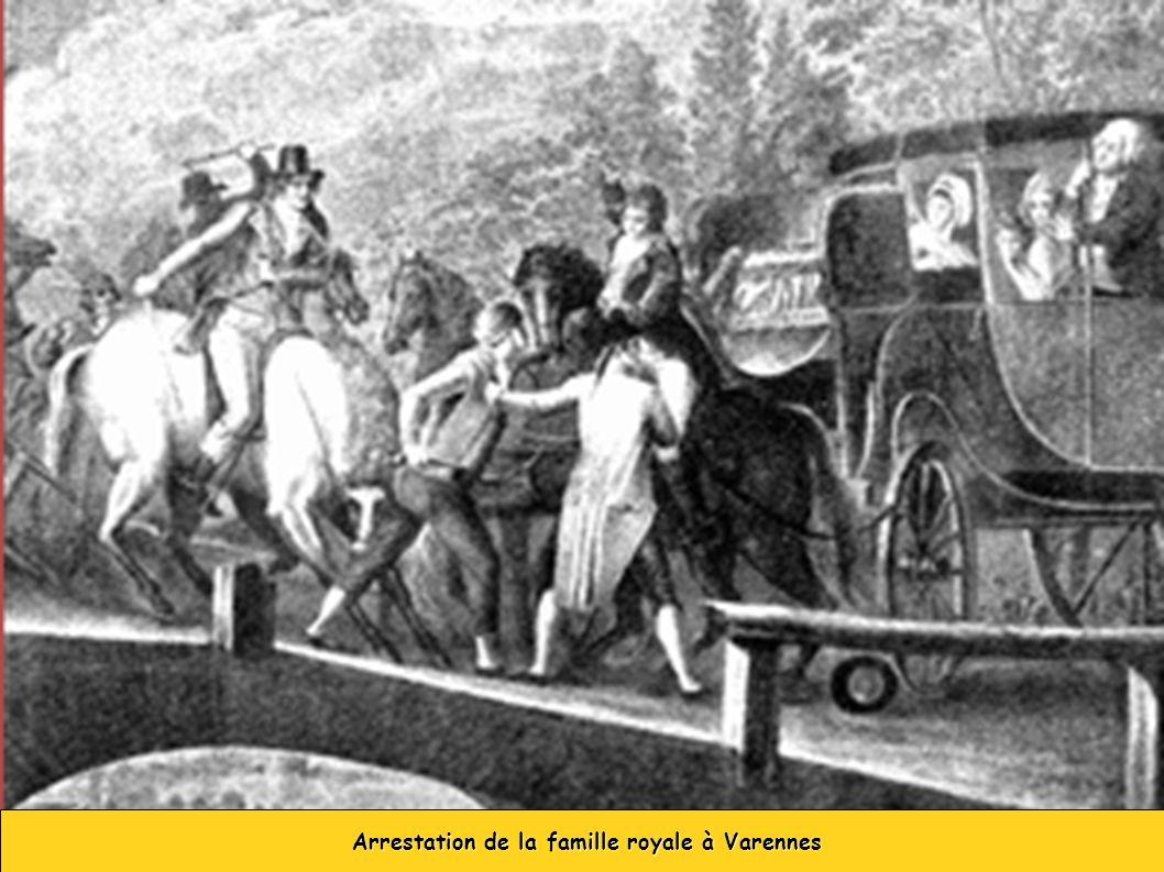 Arrestation de la famille royale à Varennes Arrestation de la famille royale à Varennes