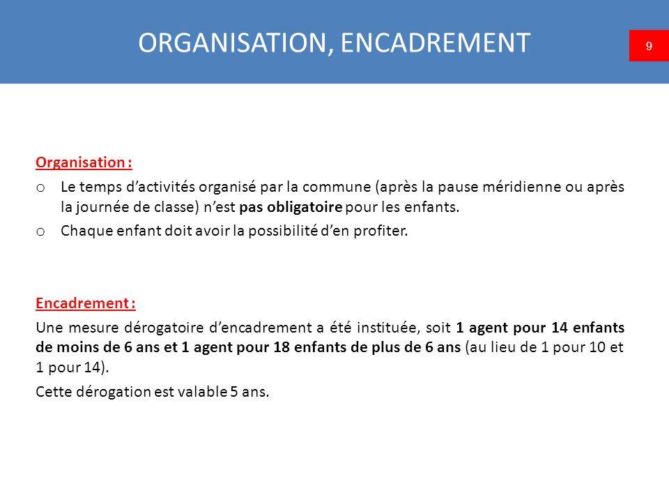 FINANCEMENT, COUT Financement : o Si la commune met en place la réforme dès la rentrée 2013 : subvention de 50 euros par élève (uniquement la 1 ère année).