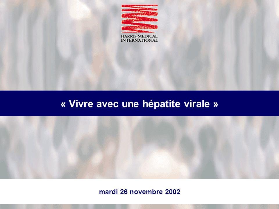 mardi 26 novembre 2002 « Vivre avec une hépatite virale »