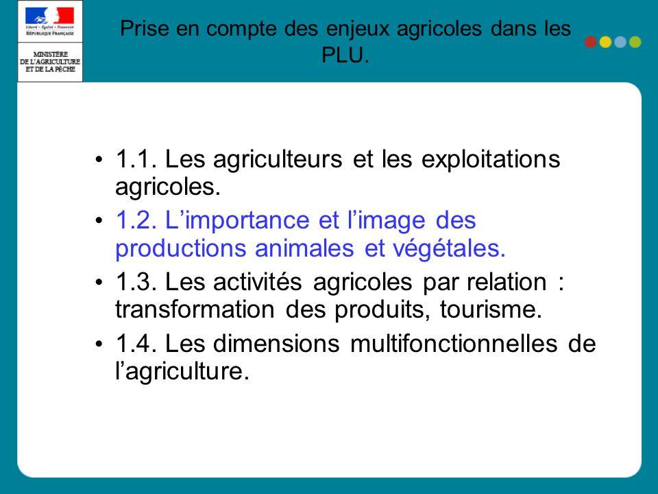 1.1. Les agriculteurs et les exploitations agricoles.