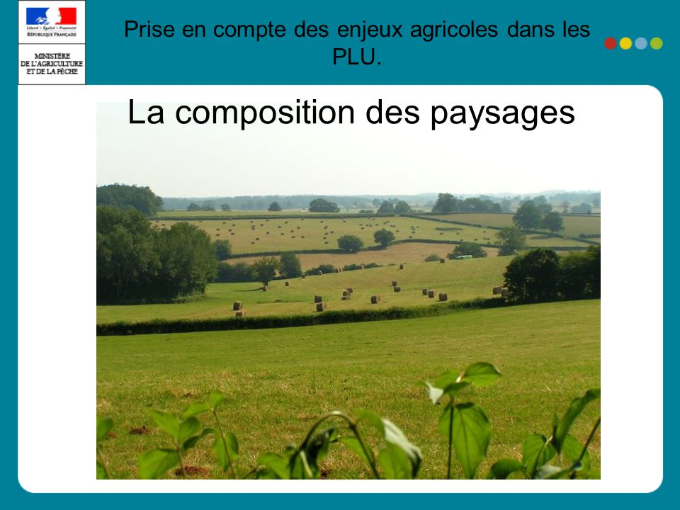 La composition des paysages