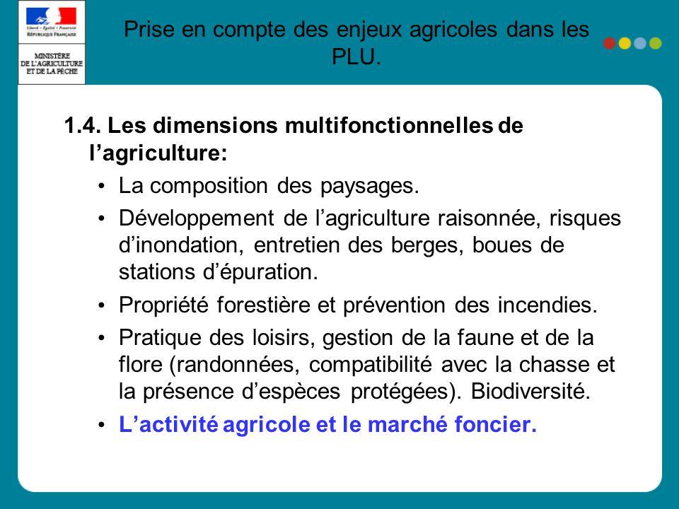 1.4. Les dimensions multifonctionnelles de lagriculture: La composition des paysages.