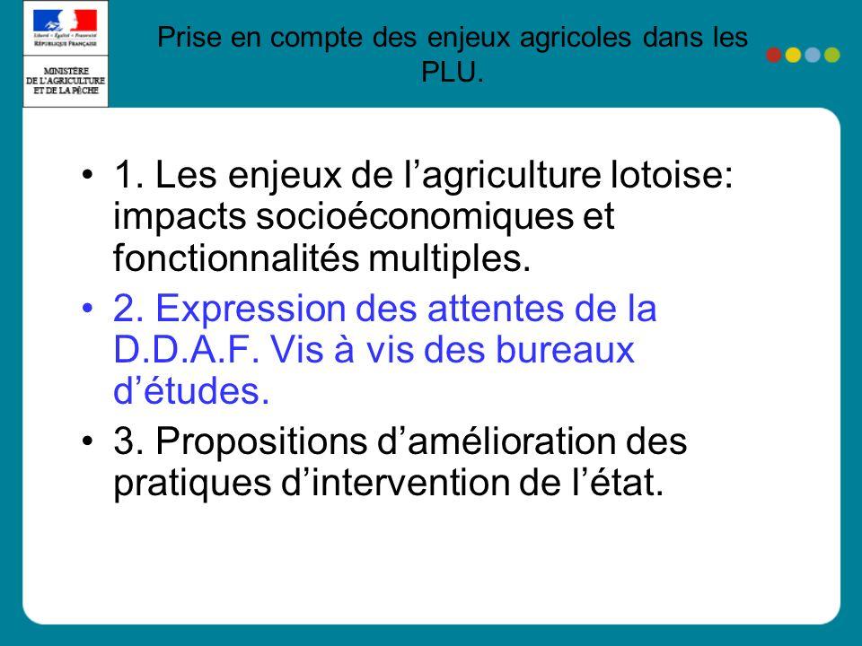 1. Les enjeux de lagriculture lotoise: impacts socioéconomiques et fonctionnalités multiples.