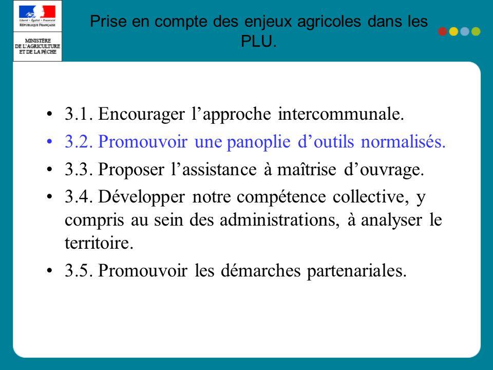 Prise en compte des enjeux agricoles dans les PLU.