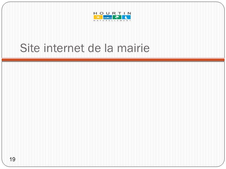 Site internet de la mairie 19