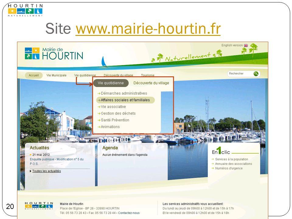 Site www.mairie-hourtin.frwww.mairie-hourtin.fr 20