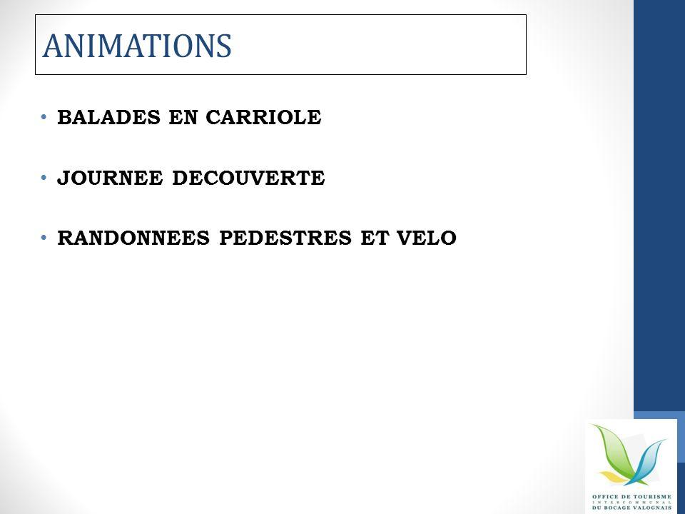 ANIMATIONS BALADES EN CARRIOLE JOURNEE DECOUVERTE RANDONNEES PEDESTRES ET VELO