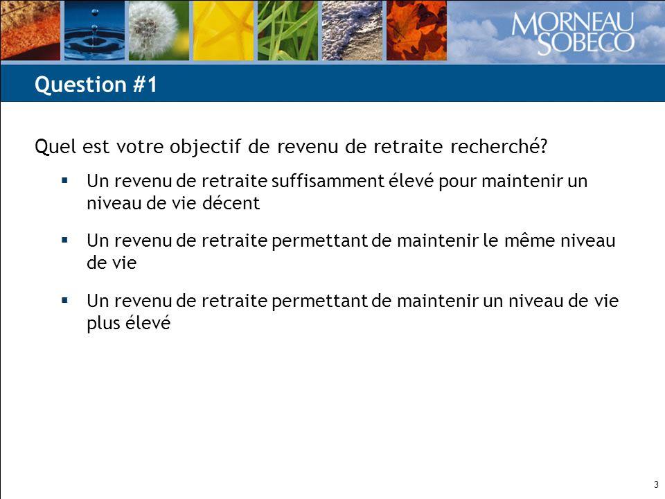 14 Référence : Vision, avril 2010, Morneau Sobeco Le 4 e pilier – une source additionnelle de revenu de retraite
