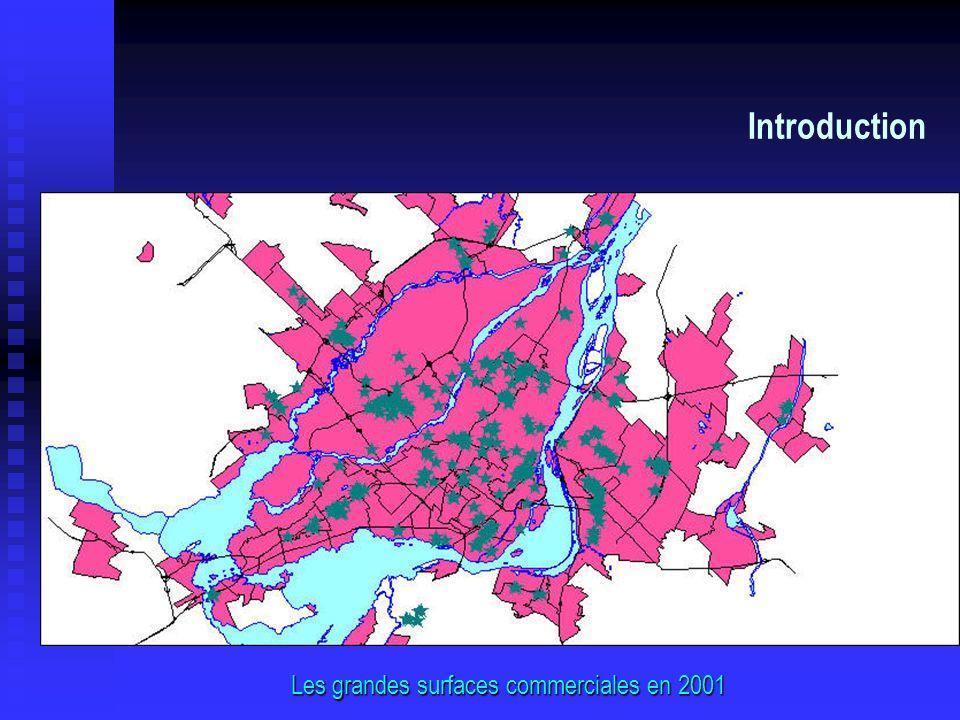 Introduction Les grandes surfaces commerciales en 2001