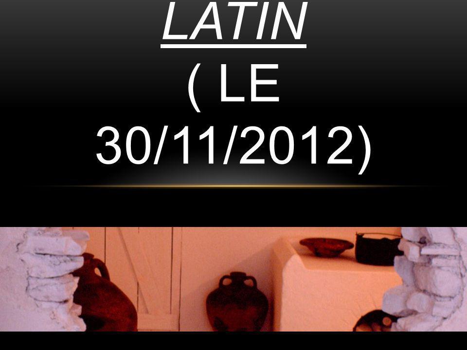 SORTIE DE LATIN ( LE 30/11/2012)