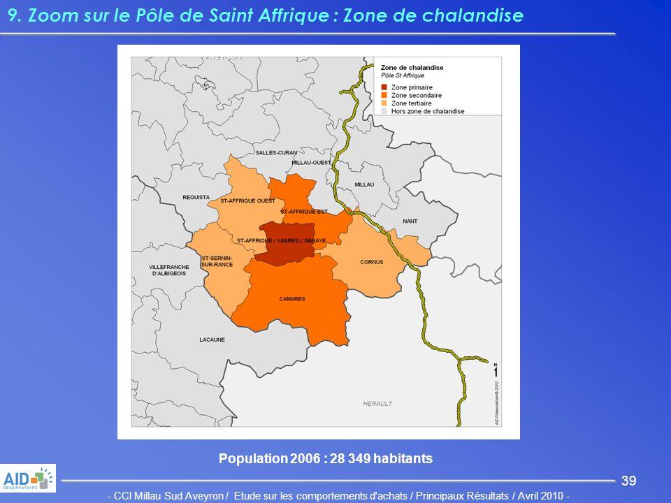 - CCI Millau Sud Aveyron / Etude sur les comportements d achats / Principaux Résultats / Avril 2010 - 39 9.