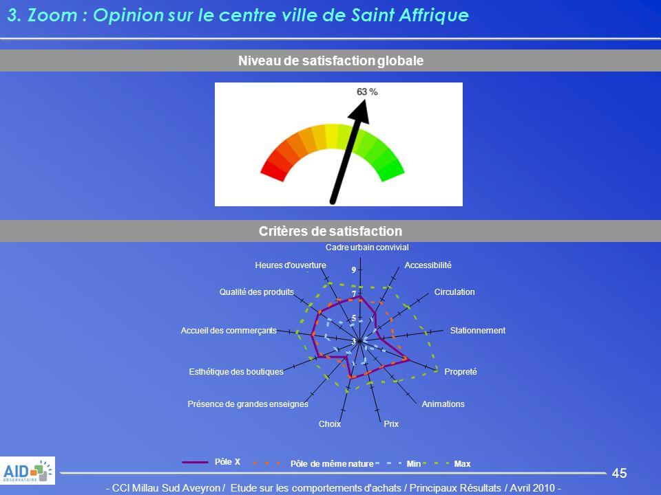 - CCI Millau Sud Aveyron / Etude sur les comportements d achats / Principaux Résultats / Avril 2010 - 45 3.