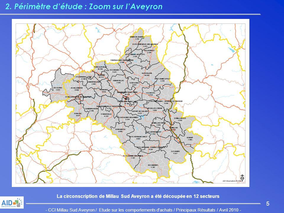 - CCI Millau Sud Aveyron / Etude sur les comportements d achats / Principaux Résultats / Avril 2010 - 5 2.