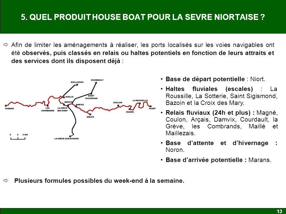 13 5.QUEL PRODUIT HOUSE BOAT POUR LA SEVRE NIORTAISE .