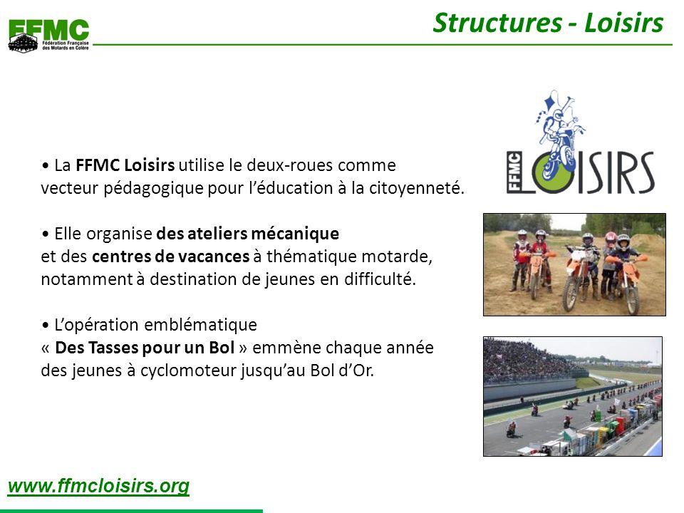 La FFMC Loisirs utilise le deux-roues comme vecteur pédagogique pour léducation à la citoyenneté. Elle organise des ateliers mécanique et des centres