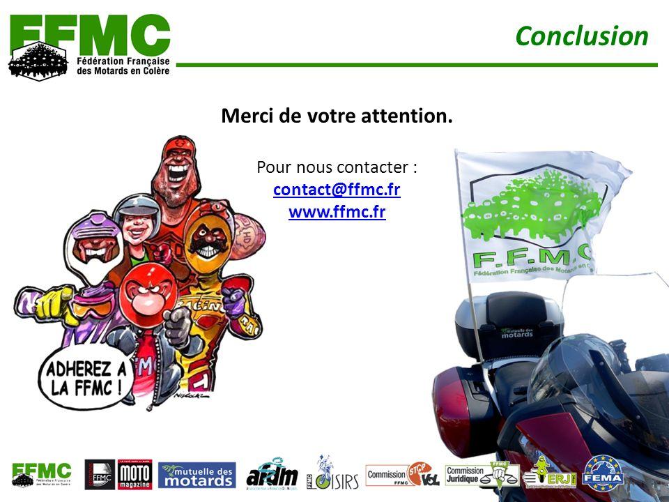 Merci de votre attention. Pour nous contacter : contact@ffmc.fr www.ffmc.fr contact@ffmc.fr www.ffmc.fr Conclusion