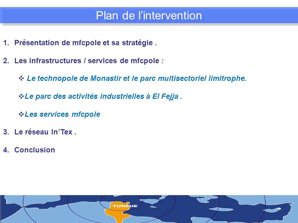 Plan de lintervention 1.Présentation de mfcpole et sa stratégie.