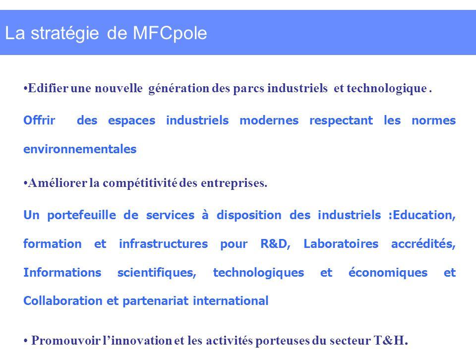 La stratégie de MFCpole Edifier une nouvelle génération des parcs industriels et technologique.