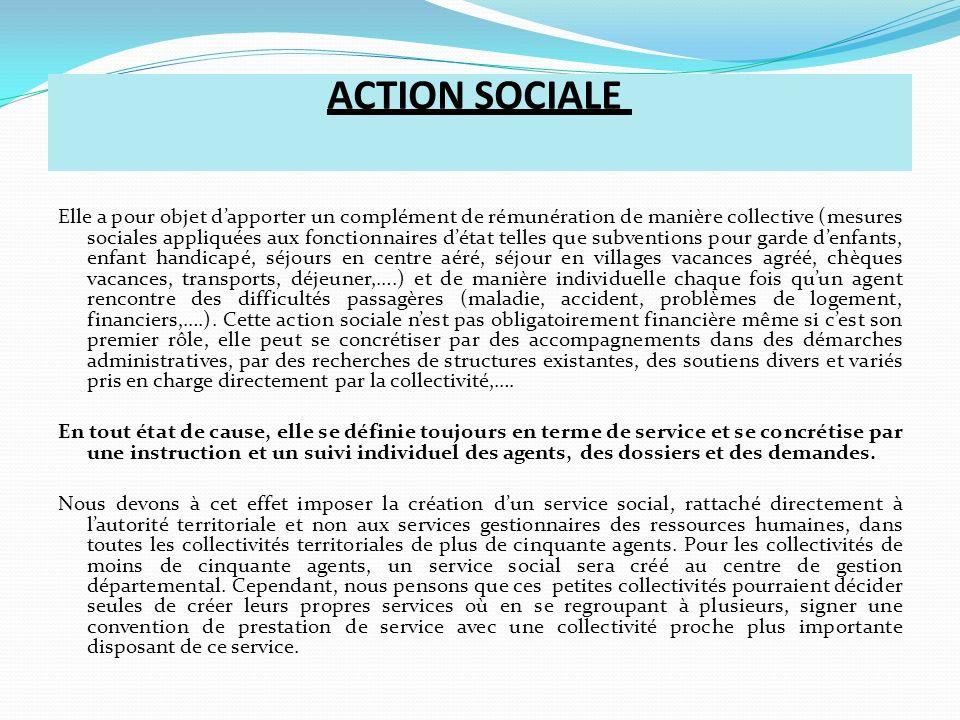 ACTIVITE SOCIALE Elle est toujours oubliée dans notre statut, y compris dans la loi de février 2007.