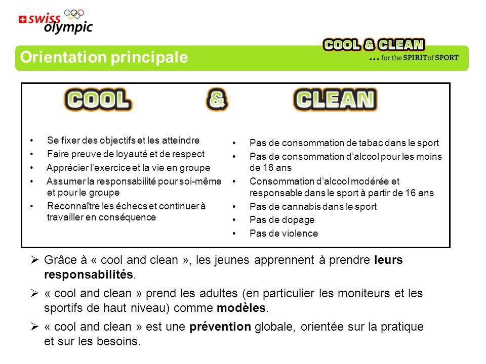 comportement souhaité Engagements Moniteurs But Les engagements sont au centre de « cool and clean »