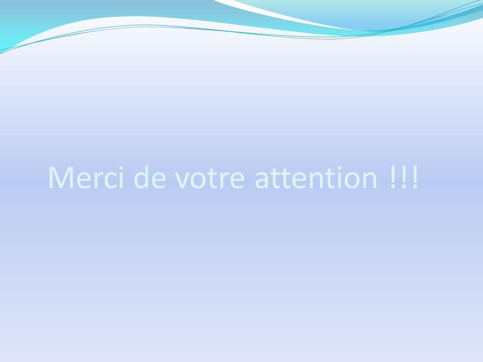 Merci de votre attention !!!