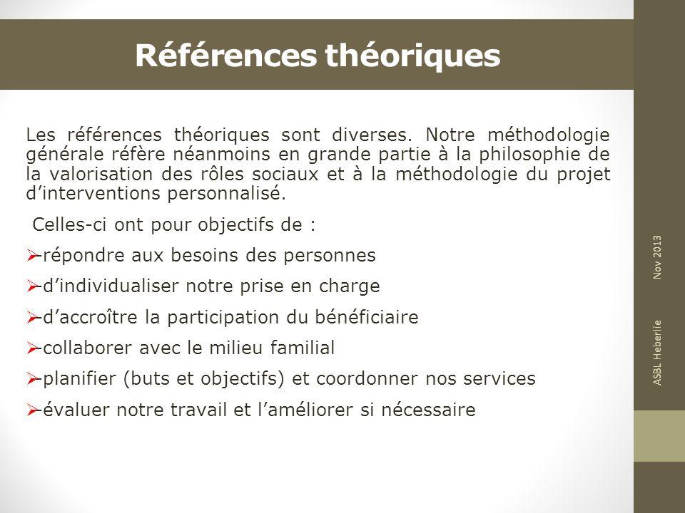 Références théoriques Les références théoriques sont diverses. Notre méthodologie générale réfère néanmoins en grande partie à la philosophie de la va