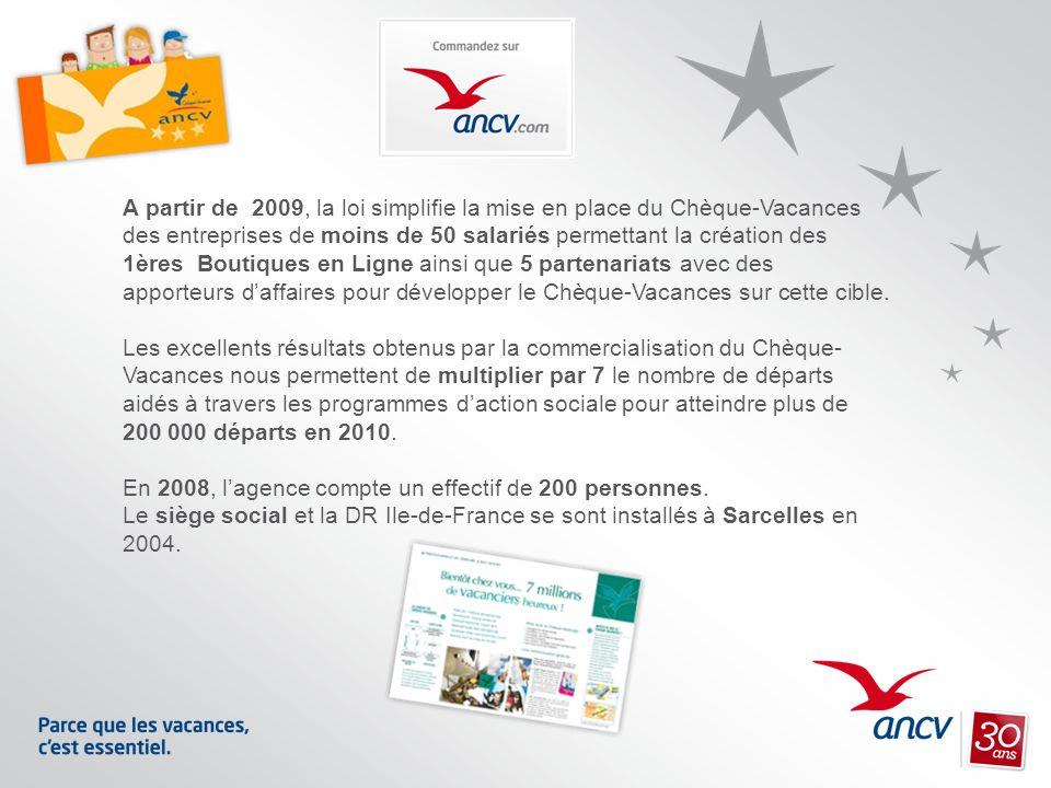 A partir de 2009, la loi simplifie la mise en place du Chèque-Vacances des entreprises de moins de 50 salariés permettant la création des 1ères Boutiq