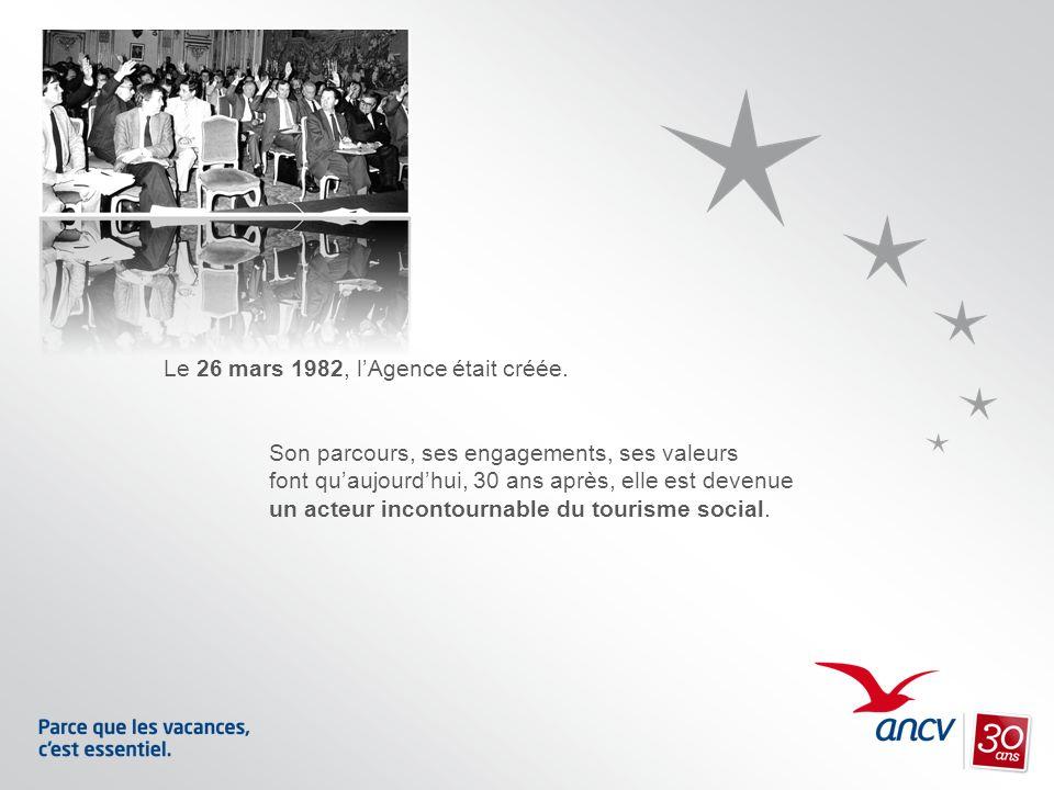 Le 26 mars 1982, lAgence était créée. Son parcours, ses engagements, ses valeurs font quaujourdhui, 30 ans après, elle est devenue un acteur incontour